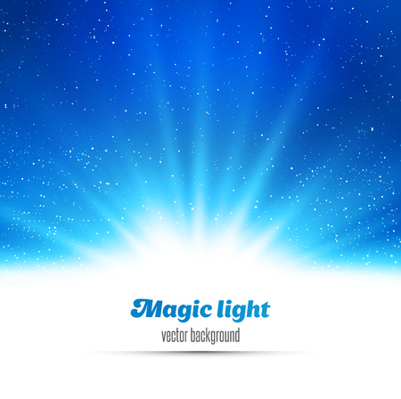 Abstract magic  light background. Blue holiday burst 矢量图像