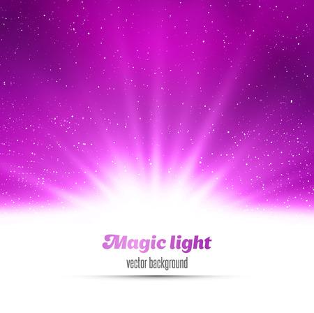 Abstract magic light background. Purple holiday burst