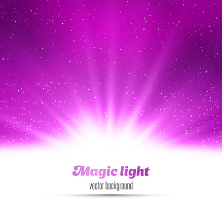 Abstract magic  light background. Purple holiday burst