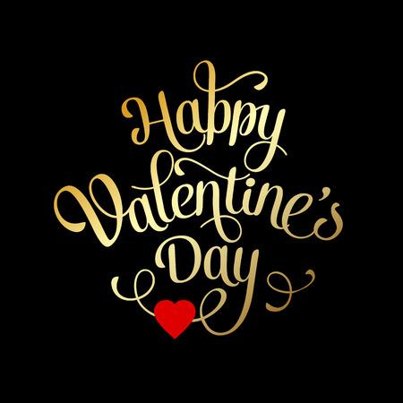 dia: Tarjeta de San Valentín con las letras. Feliz día de San Valentín