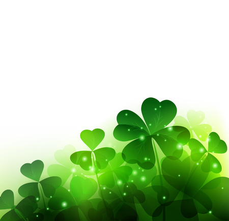 field: Vector Happy Saint Patricks Day Background with clover
