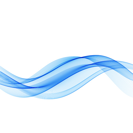 blue waves vector: Abstract motion smooth color wave vector. Curve blue lines