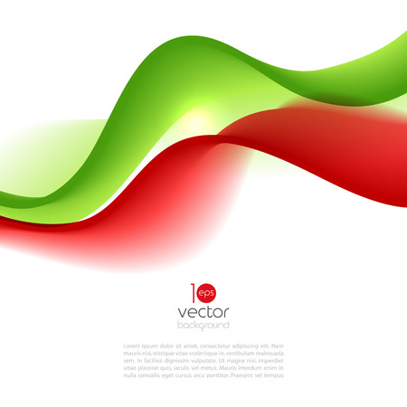 wave vector: Abstract motion smooth color wave vector. Curve red and green lines Illustration