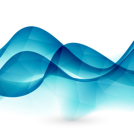 wave vector: Abstract motion smooth color wave vector. Curve green lines