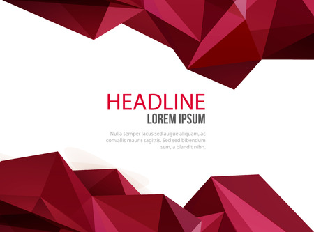 Abstract template design, brochure, Web sites, page, leaflet, certificate with colorful geometric triangular backgrounds