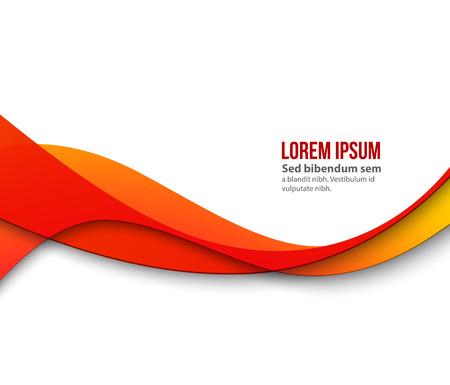 flujo: Resumen de onda de color liso. Curva de flujo ilustración movimiento naranja. anaranjado de la onda