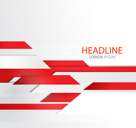 ラインのビジネス背景を抽象化します。パンフレット デザインのテンプレート。技術ライン。赤モダンなラインのデザイン