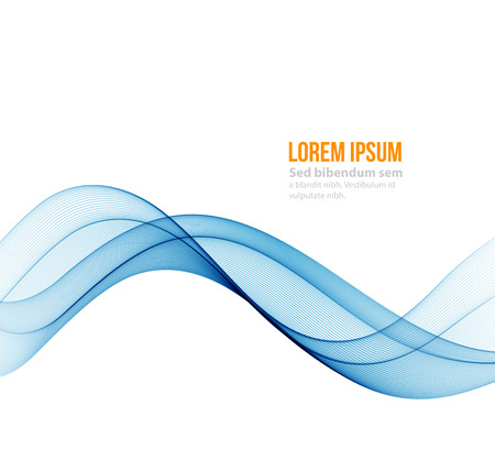 wavy background: Abstract blue wavy lines.  Colorful background Illustration