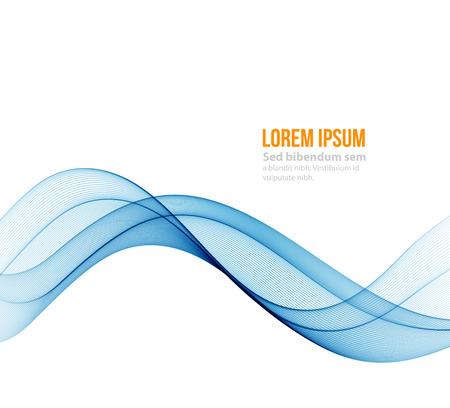 Abstrakte blaue Wellenlinien. Bunter Hintergrund