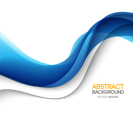 blue lines: Abstract blue wavy lines.  Colorful background Illustration