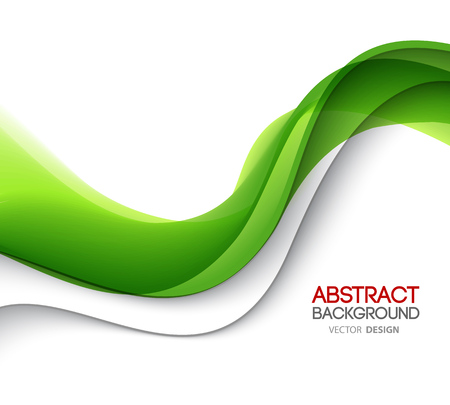 Abstrakte grüne wellenförmige Linien. Bunter Hintergrund. Grüne Welle