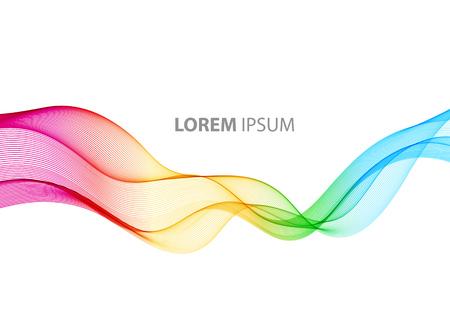 Movimento astratto onda colore uniforme vettoriale. linee curve arcobaleno Vettoriali
