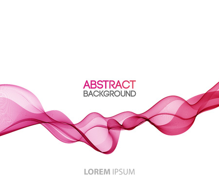 wave vector: Abstract motion smooth color wave vector. Curve pink lines