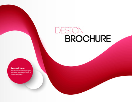 red wave: Abstract pink wavy lines.  Colorful red wave vector background. Brochure or website design.