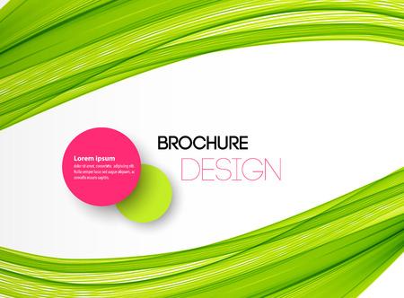Zusammenfassung grünen Wellenlinien. Bunte Vektor Hintergrund der grünen Welle. Für Broschüre, Website-Design