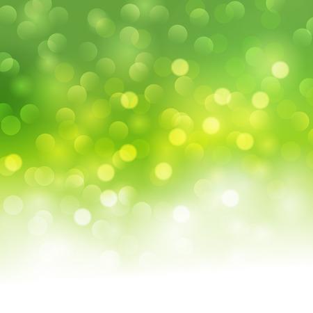Bokeh del vector fondo verde claro. bandera luz verde del verano