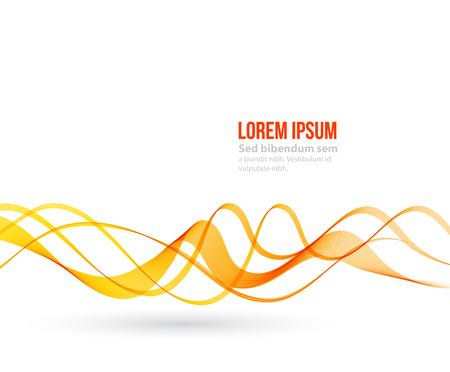 lines vector: Abstract orange color wave design element. Orange wave Illustration