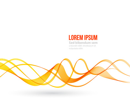 yellow orange: Abstract orange color wave design element. Orange wave Illustration