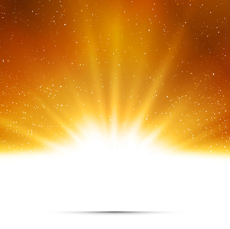 Abstract background. Magic light with gold burst. Gold light Ilustrace