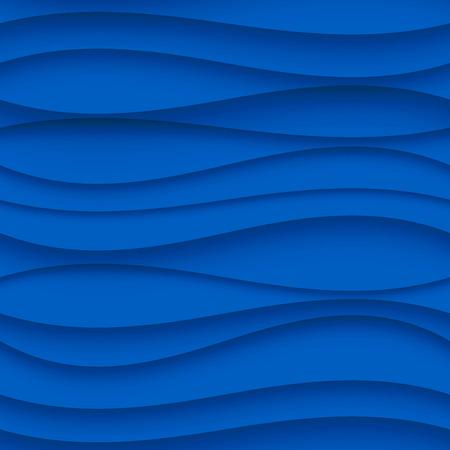 Motif en vagues Seamless. Courbé Contexte Formes. Regular Texture vague bleue