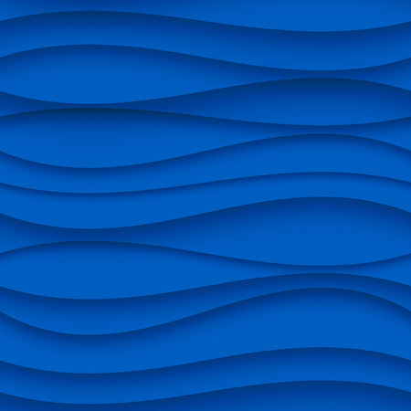 blue wall: Seamless Wave Pattern. Curved Shapes Background. Regular Blue wave Texture