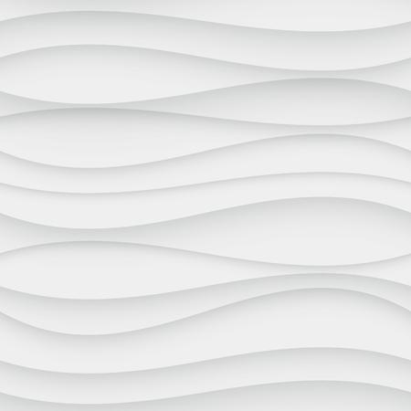 Naadloos Patroon van de Golf. Gebogen Achtergrond van Vormen. Regelmatig Witte golf Textuur