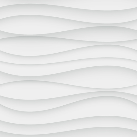 wave: Seamless Wave Pattern. Curved Shapes Background. Regular White wave Texture