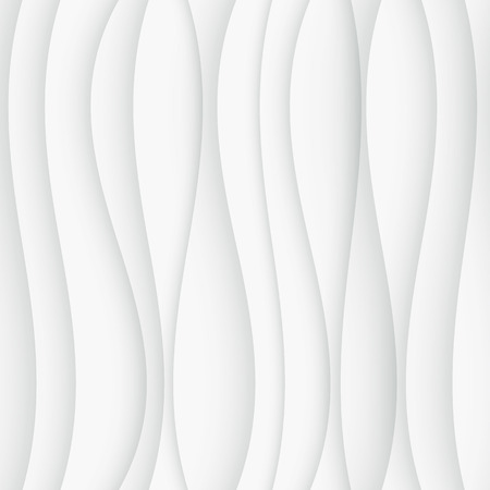 Seamless Wave Pattern. Curved Shapes Background. Regular White wave Texture