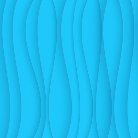 Seamless Wave Pattern. Curved Shapes Background. Regular Blue wave Texture