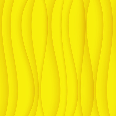 Seamless Wave Pattern. Curved Shapes Background. Regular yellow wave Texture