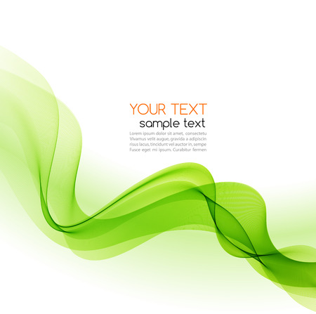 green lines: Abstract motion smooth color wave vector. Curve green lines
