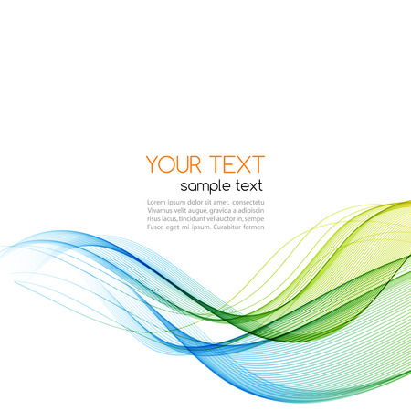 wave vector: Abstract motion smooth color wave vector. Curve green and blue  lines