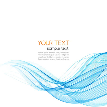 Abstract blue color wave design element. Blue wave
