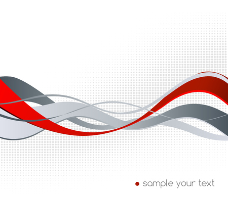 red wave: Abstract red and gray color wave design element. Red wave Illustration