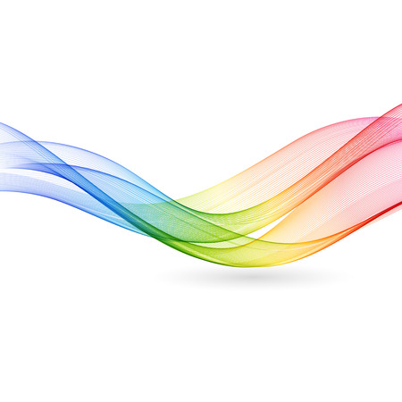 Vector Abstract color wave background. Rainbow wave