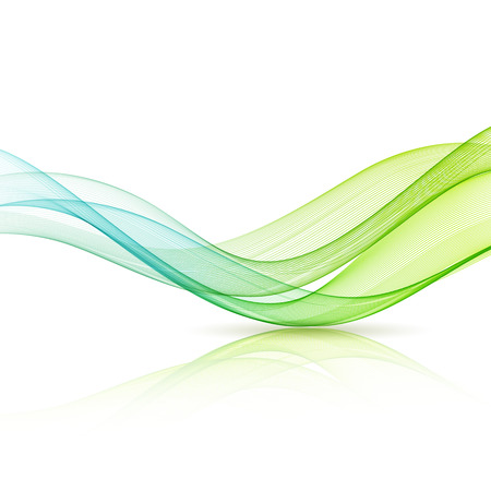 vector element: Abstract motion smooth color wave vector. Curve green and blue  lines