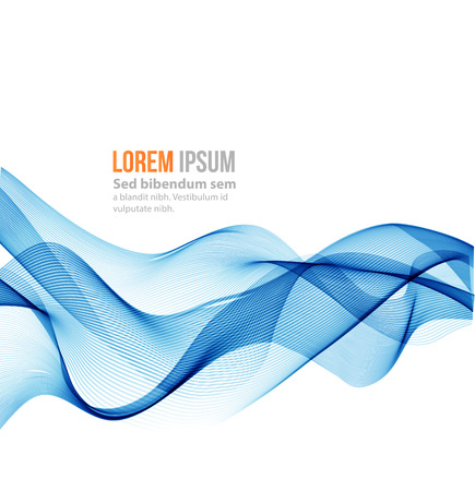 blue lines: Abstract vector background. Blue smoke wave. Blue wave background, blue transparent waved lines for brochure, website, flyer design.