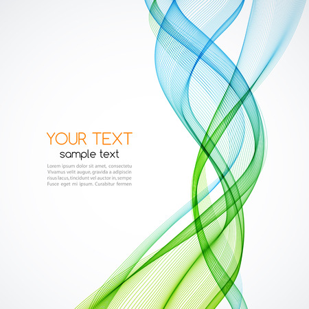 green smoke: Abstract vector background, blue and green transparent waved lines for brochure, website, flyer design.  Blue and green smoke wave. Blue and green  wavy background Illustration