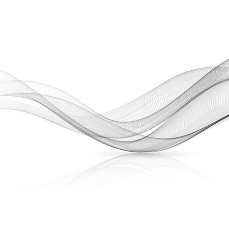 Abstrakte graue Farbe Welle Design-Element. Graue Welle. Grauer Rauch Wellenlinien