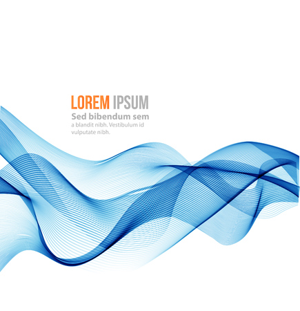 blue wave: Abstract wave background. Blue smoke wave. Blue wave background, blue transparent waved lines for brochure, website design. Stock Photo