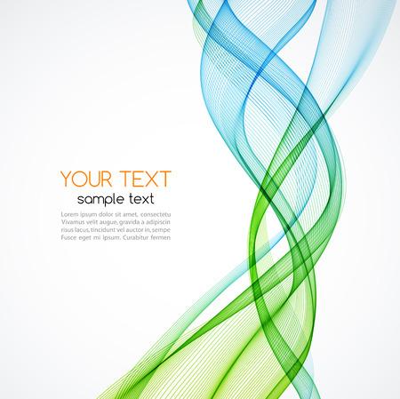 verde: Resumen de antecedentes, líneas onduladas transparentes azules y verdes para folleto, página web, diseño de volante. Onda azul y verde humo. Fondo azul y verde ondulada