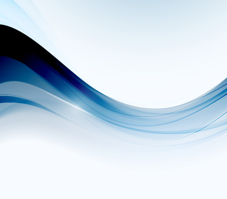 blue wave: Abstract motion wave illustration Illustration