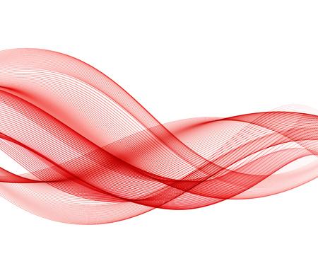 Abstract rode golf ontwerpelement.