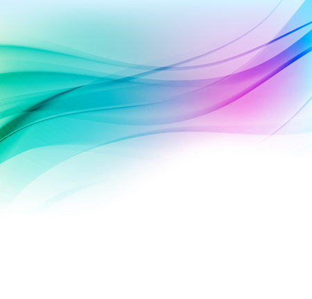 Abstract vector background with blue and pink smooth color wave. Blue wavy lines