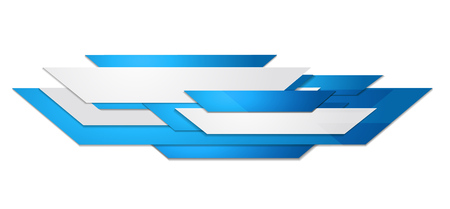 Abstract blue and white motion technology design. Vector corporate background