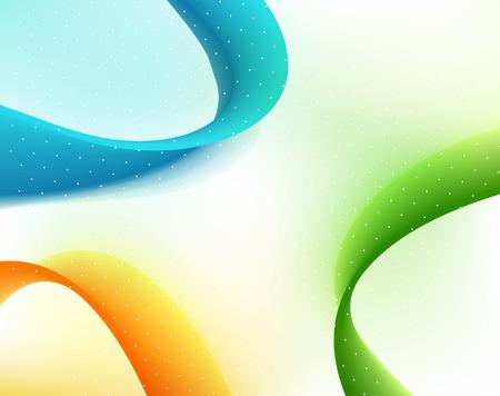 Vector Abstract curved lines background. Template brochure design. Color flow wave Ilustração