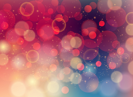 Vector Soft colored abstract background with bokeh for design Ilustração