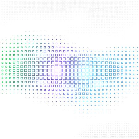 Vector Abstract background with halftone square shapes design element Ilustração