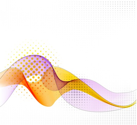 Abstract vector background with smooth color wave. Transparent wavy lines