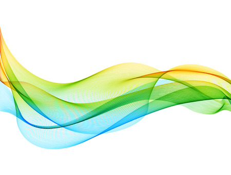 Abstract vector background with smooth color wave. Smoke wavy lines Stock Illustratie